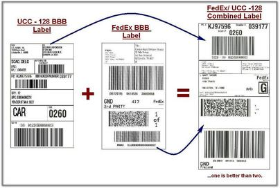 Bed, Bath & Beyond/FedEx Combined Label